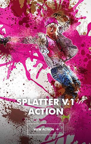 Creative Splatter Photoshop Action - 24
