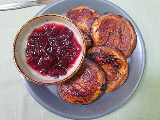 HP Glazed Mushrooms and Cranberry Sauce