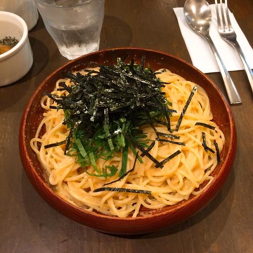 タラコ青じそ大盛りスパゲッティ 恵比寿のアンクルトム