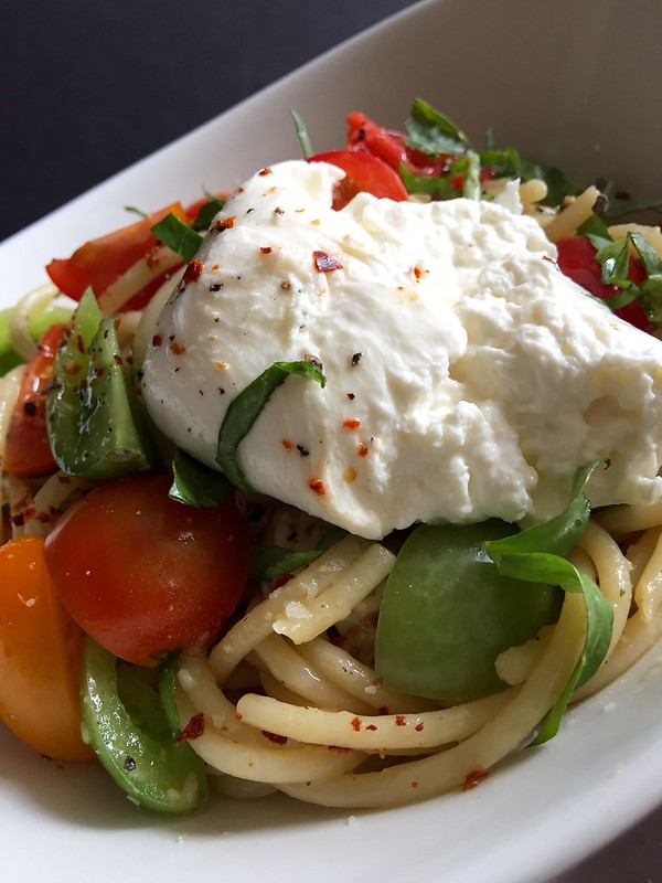 Burrata Caprese Bucatini