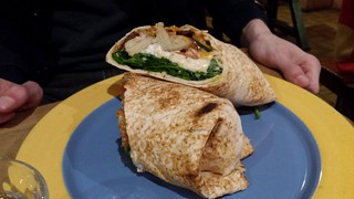 Mock Chicken Wrap from Yong Green