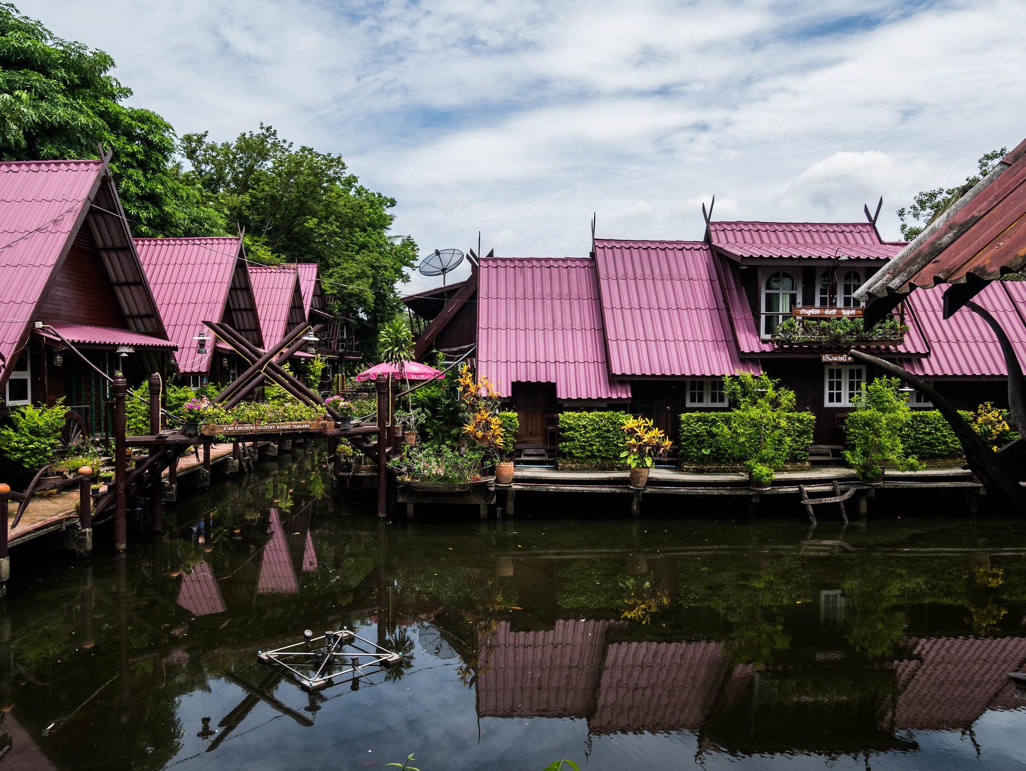 Typical thaï village
