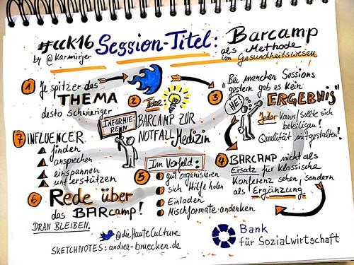 #cck16 Barcamp als Methode im Gesundheitswesen