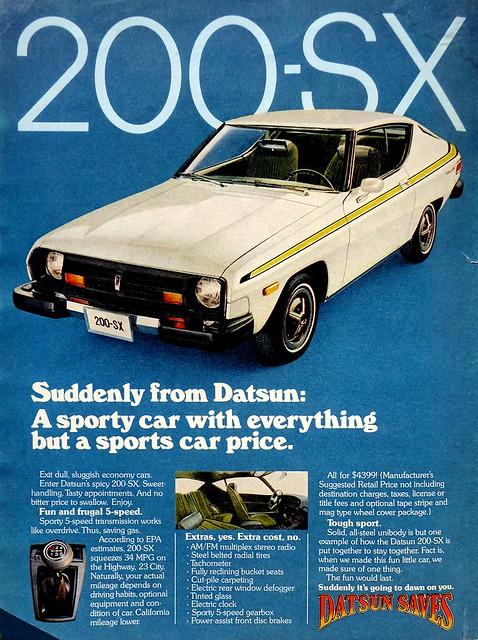 Datsun 200-SX 1977 Advert
