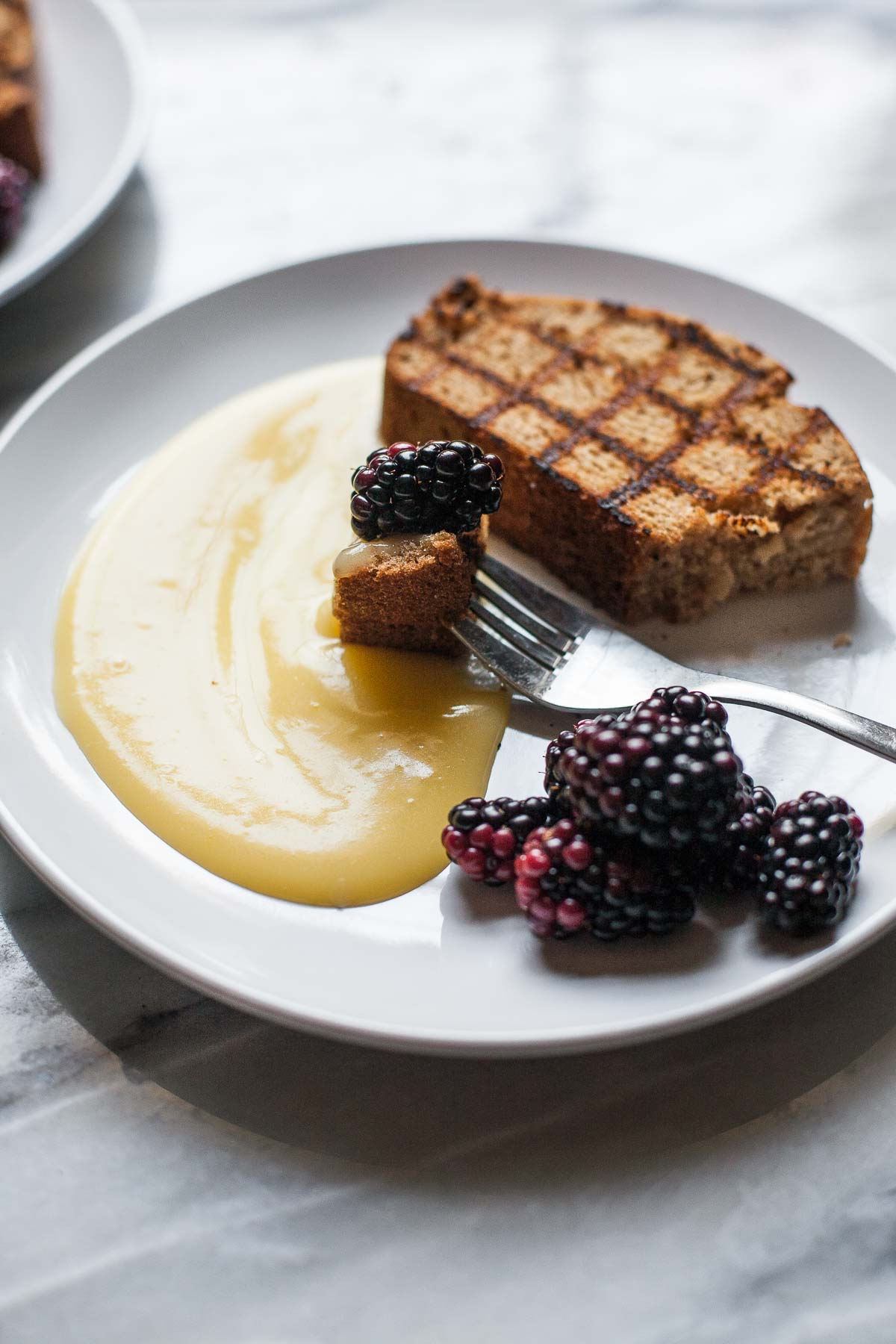 Grilled Pound Cake with Lemon Curd and Berries