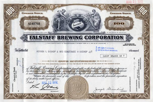 falstaff-brewing-corporation-rare-uncancelled-certificate-missouri