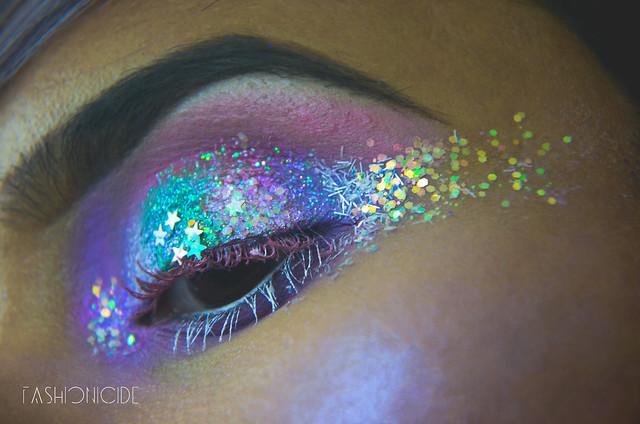 Intergalactic Glitter Explosion Makeup