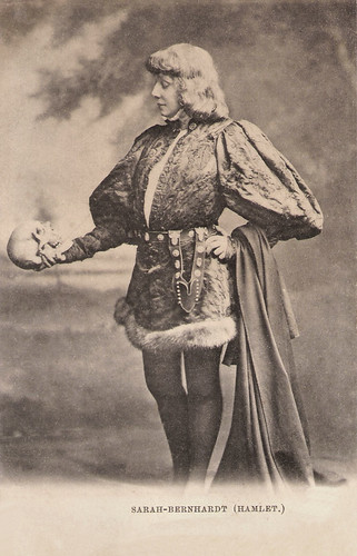 Sarah Bernhardt in Hamlet
