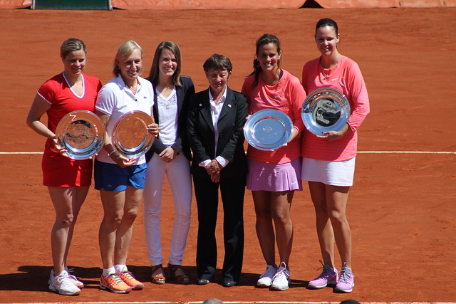 Clijsters, Navratilova, Hénin, Fernandez, Davenport