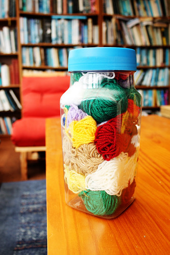 Jar of wool