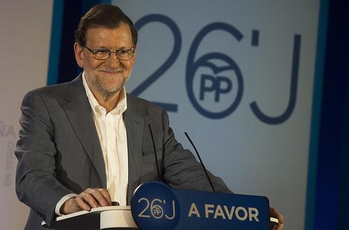 Mariano Rajoy en la presentación del programa electoral en Barcelona