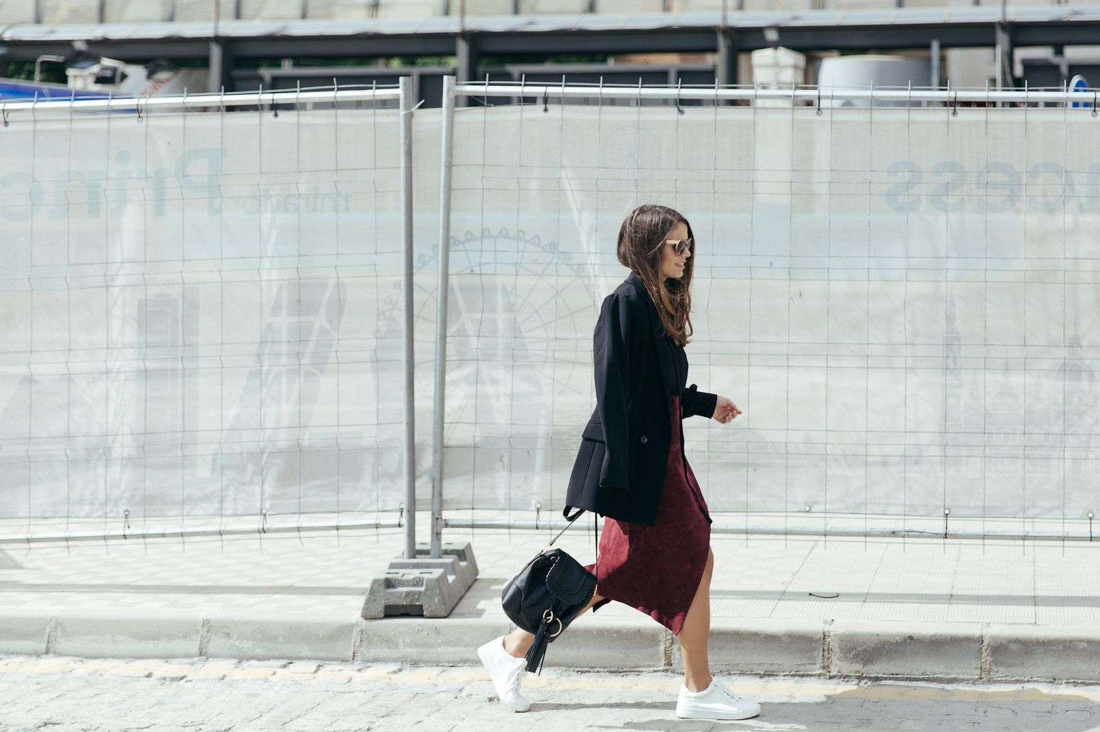 Jessie Chanes Seams for a desire - Burgundy Midi Skirt -15