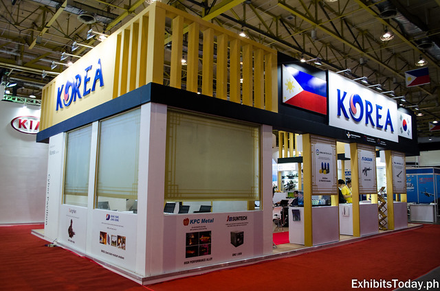 Back of Korea Aerospace Industries Pavilion