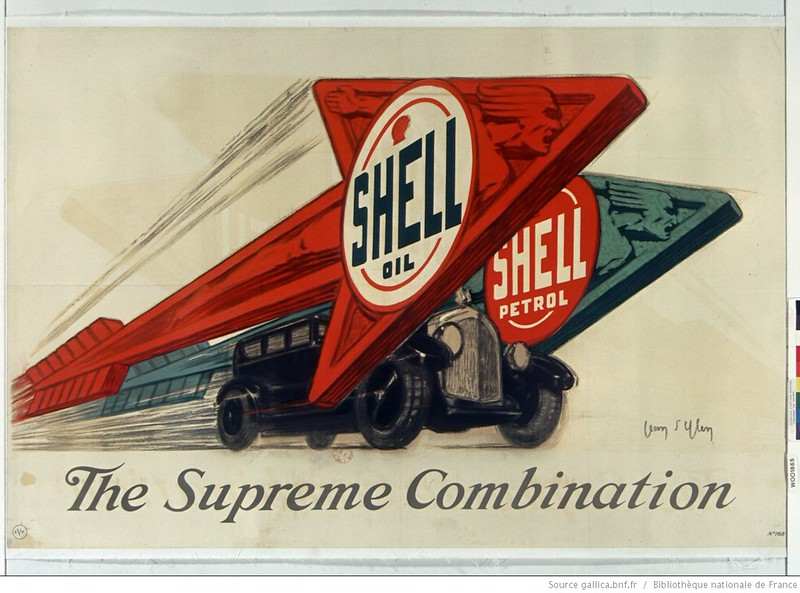 1925. Shell oil Shell petrol. The supreme combination