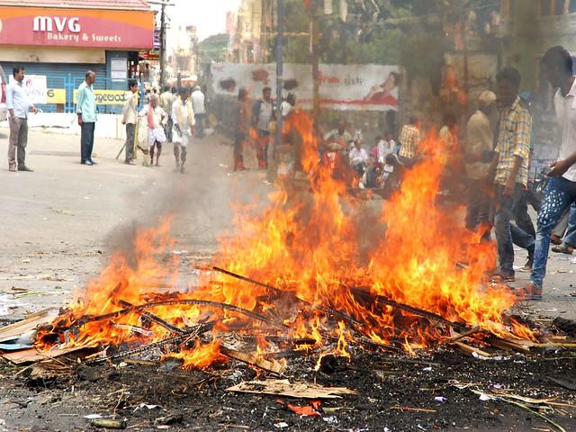 बंगलुरु में विरोध प्रदर्शन