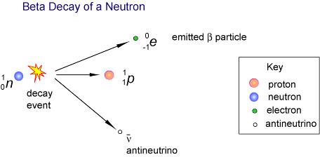 Desintegración beta de neutrones