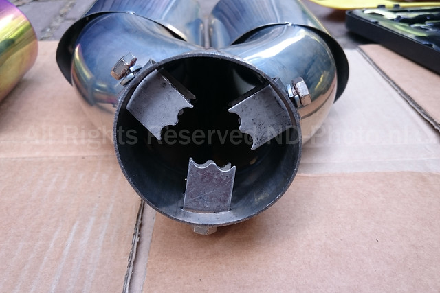 Exhaust tip rear view