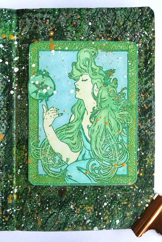 poison ivy mini art journal