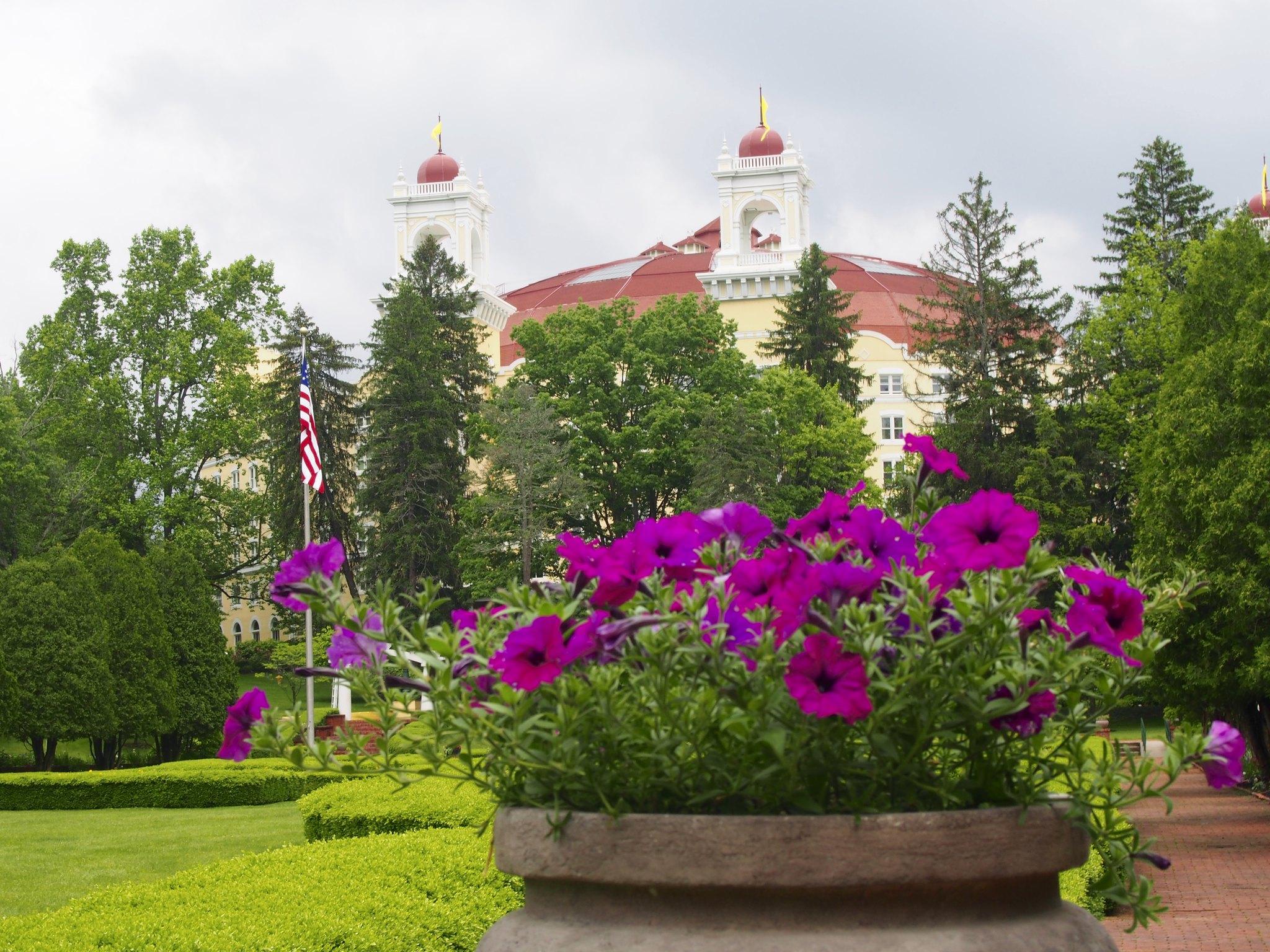 West Baden garden view