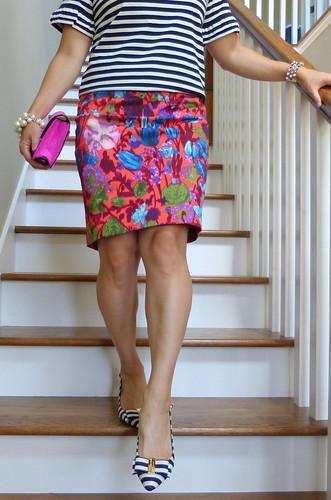 ruffled sleeves + watercolor floral