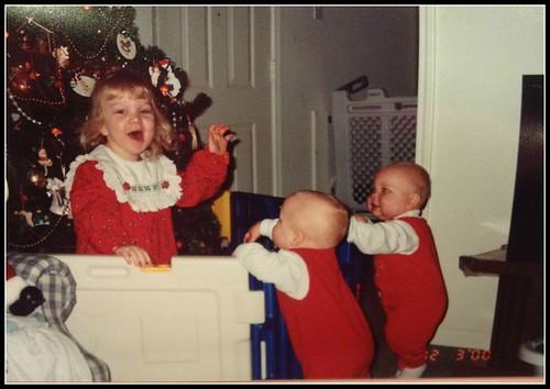 Katie and the boys Christmas_2000