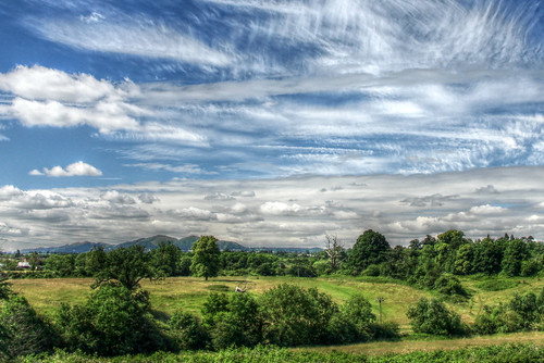 Malvern Hills and wonderful changing cirrus clouds