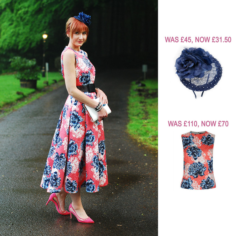 Summer Sales Picks SS16 - ASOS navy roses fascinator, Jaeger peony print top | Not Dressed As Lamb