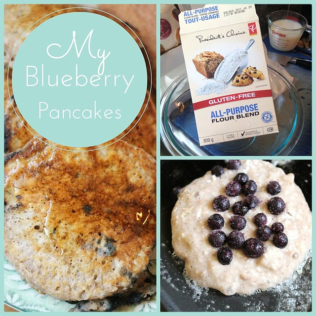My Blueberry Pancake Recipe & PC All Purpose Gluten-Free Flour Product Review