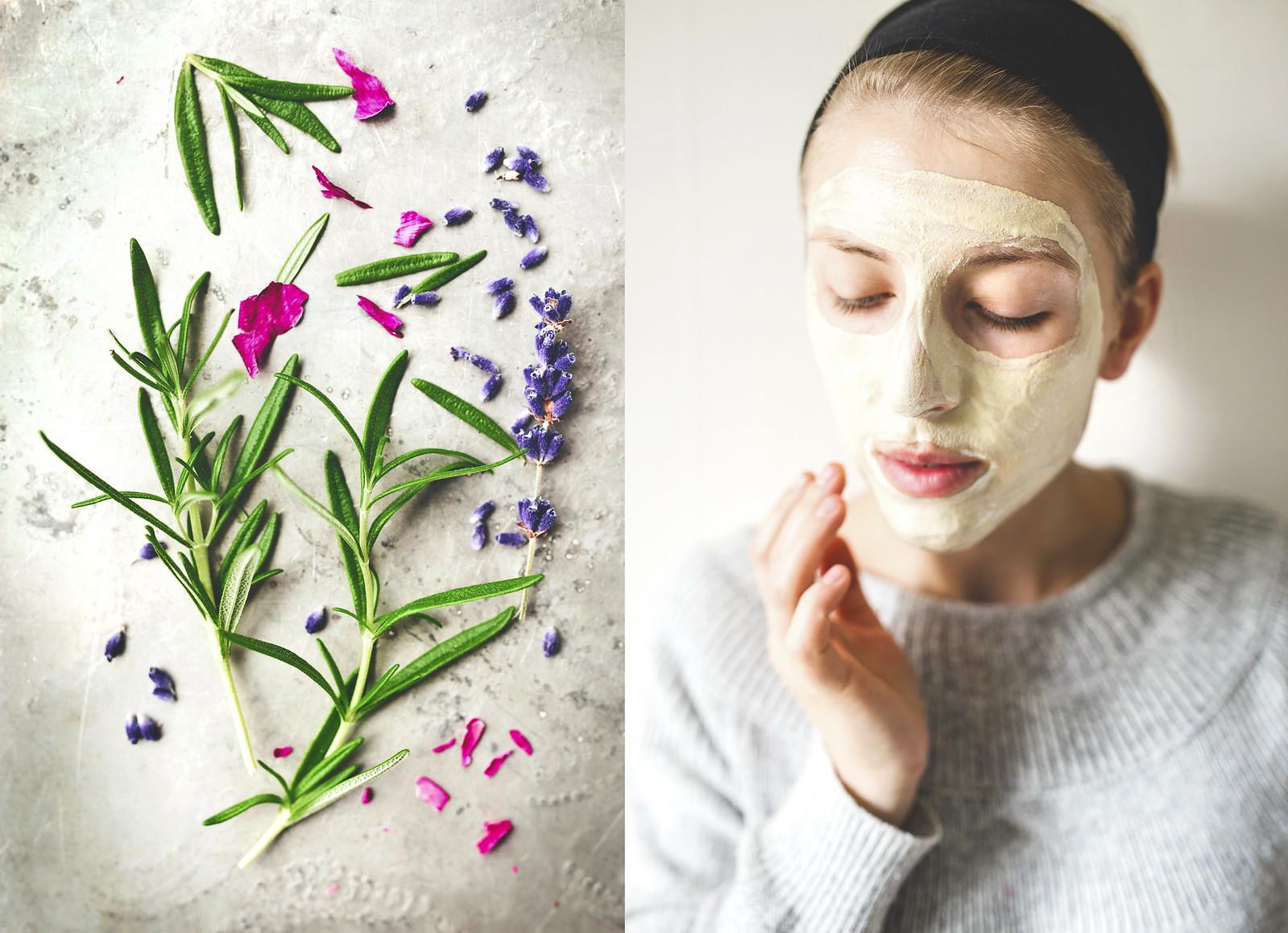 Ansiktsångbad och ansiktsmask med vit lera - Evelinas Ekologiska