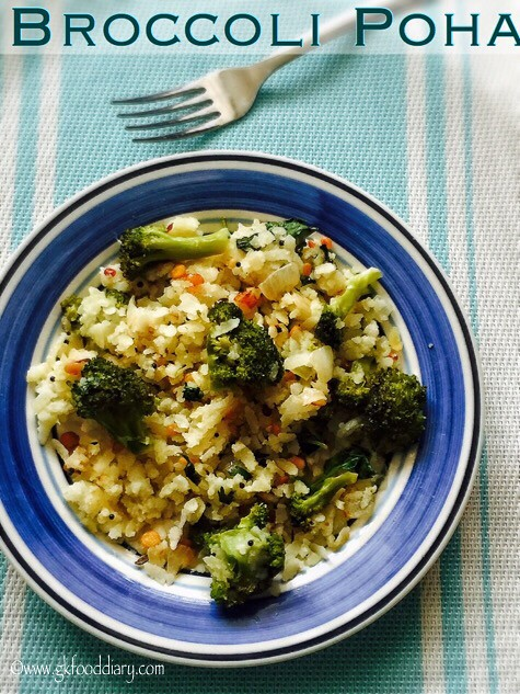 Broccoli Poha Recipe for Babies, Toddlers and Kids3