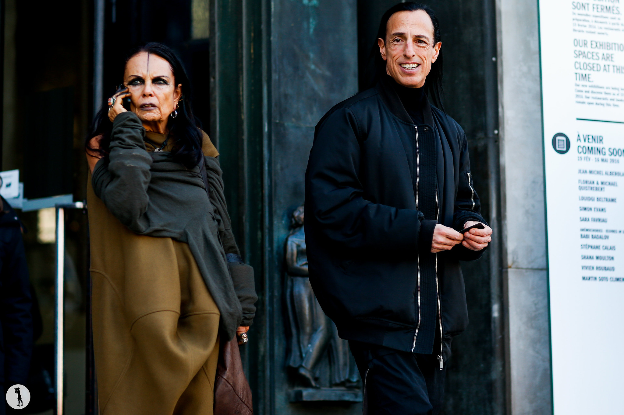 Michele Lamy and Rick Owens at Paris Fashion Week Menswear-2