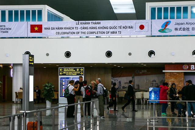 Just opened Noi Bai International Airport Terminal2, Hanoi, Vietnam ハノイ、オープン当日のノイバイ国際空港ターミナル2
