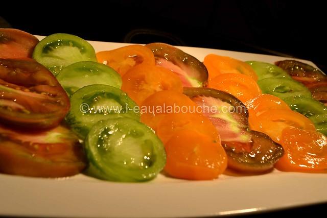 Tomates Multicolores aux Oignons Nouveaux & Graines © Ana Luthi Tous droits réservés 07