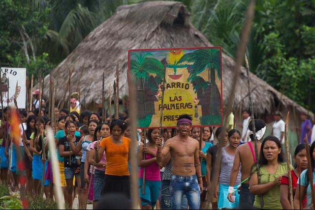Indigenous Amazonian protestors