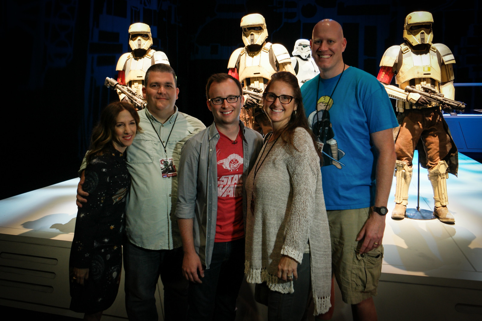 Guided tour of the Rogue One costume exhibit from two of the movie's producers
