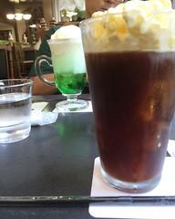 coffee float...like affogato but cold version❤︎ #箕面 #大阪 #山本珈琲 #コーヒーフロート #yamamotocoffee #minoo #osaka #coffeefloat #latergram