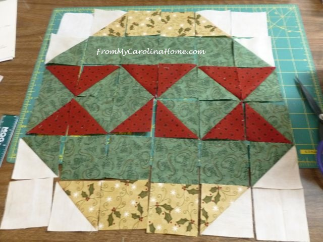 Christmas Ornament Mini Quilt ~ From My Carolina Home