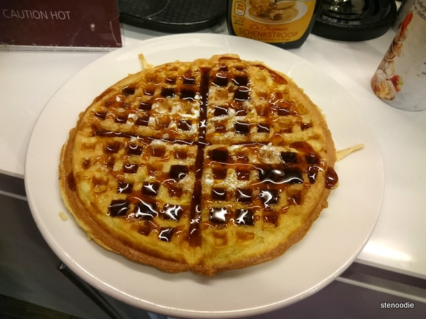 Waffle drenched in syrup