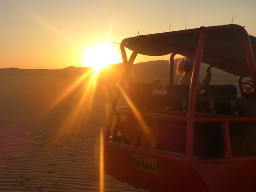 Sunset next to the buggy