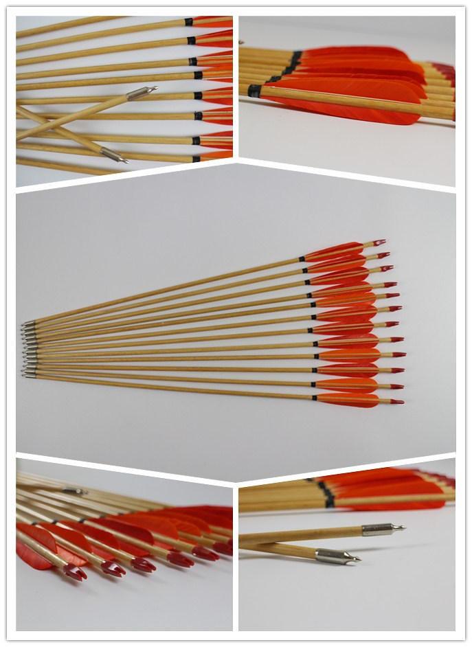 Holzpfeile für traditionelles bogenschießen