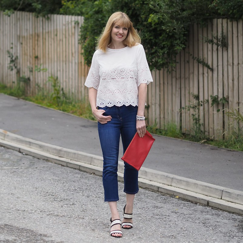 Styling a basic white top and denim: Marks & Spencer challenge - Liz, What Lizzy Loves