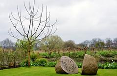 The garden pebbles