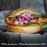 Hot Dog aus Auf die Hand