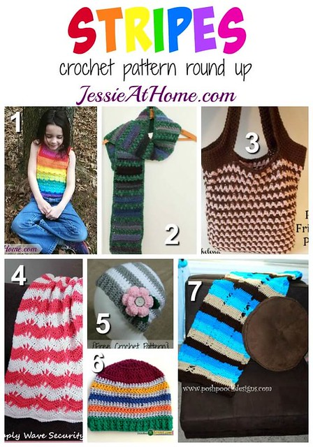 Stripes - free crochet pattern round up by Jessie At Home