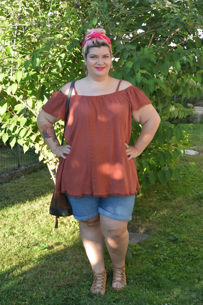 Outfit plus size shorts (9)