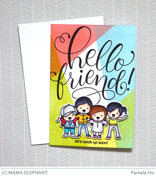 Mama Elephant - Hello Friend Wishes