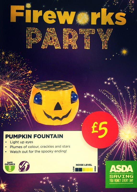 £5 ASDA PRICE - Pumpkin Fountain by TNT Fireworks