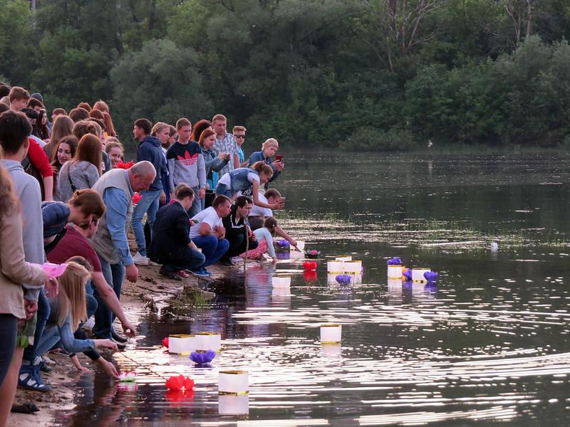 Владимирский фестиваль водяных фонариков