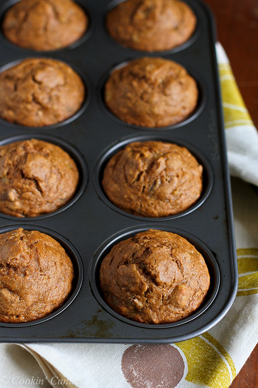 Whole Wheat Banana Nut Muffins Recipe...Great for breakfast or healthy snacking! 158 calories and 4 Weight Watcher PP   cookincanuck.com