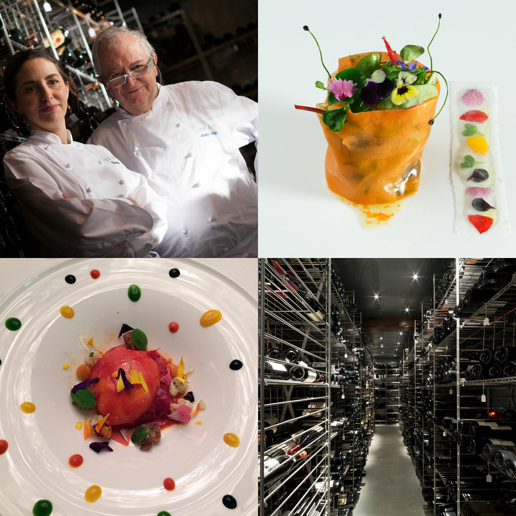 Three Michelin Stars since 1989 ? (first Spanish restaurant to obtain them). Listed 8th on The World's Best 50 Restaurants Awards in 2012. Elena Arzak was named Veuve Clicquot Best Female Chef 2012.